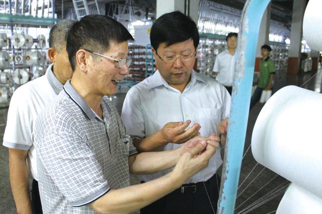 Thư ký Li Wenke của CECEP Group đã đến thăm Baihong để kiểm tra