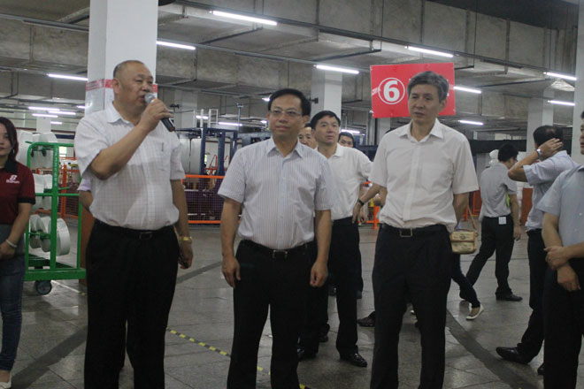 Hong Jiexu, Vice Governor of Fujian Province, led a team to visit Baihong to investigate smart manufacturing pilot demonstration projects