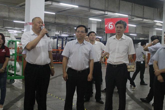 Hong Jiexu, Phó tỉnh trưởng tỉnh Phúc Kiến, đã dẫn đầu một nhóm đến thăm Baihong để điều tra các dự án trình diễn thử nghiệm sản xuất thông minh